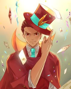 Seriously, Apollo in magician getup looks so amazing. <3 I LOVE the colors in this--so vibrant!