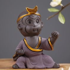Chinese Tea Accessories Colour Clay Monkey King Sun Wukong Tea Pet Ceramic TeaPet Tea Set  Tray Office Table Mascot Furnishings Sale Only For US $15.08 on the link New Chinese, Chinese Tea, Tea Culture, Monkey King, Tea Accessories, Tea Set, Dance Wear, Ceramics, Ceramic Clay
