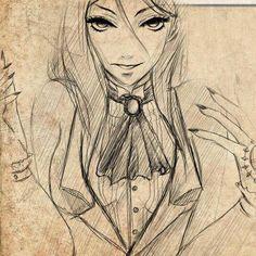 Sebastian Michaelis Female (i love whoever drew this)