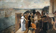 DEGAS, Edgar Semiramis Building Babylon 1861 Oil on canvas, 151 x 258 cm Musée d'Orsay, Paris