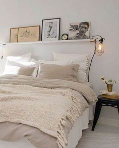 Tonos crudos y blanco para un dormitorio soft