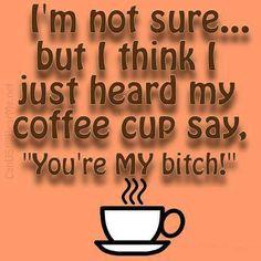My coffee speaks to me =)