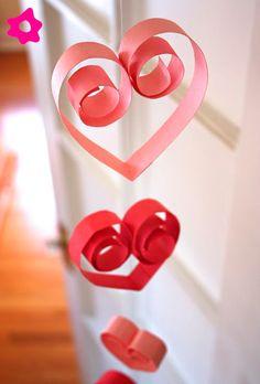 Faça você mesma: corações de papel para decorar   Blog da Sofia