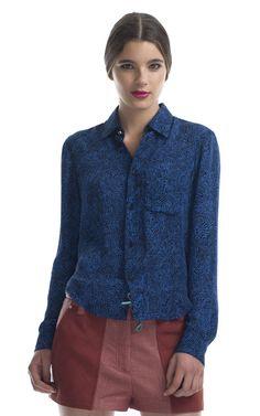 Silk Georgette Topography Shirt by Kenzo - Moda Operandi