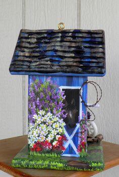 Blue Barn Bird House Environmentally by BirdhouseBlessings