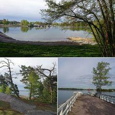 Helsingin aamua lenkillä Seurasaaren suunnalla