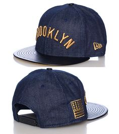 NEW ERA Brooklyn Dodgers baseball snapback cap Adjustable strap on back Embroidered team logo on front NEW ERA stitching on sides Polyurethane brim