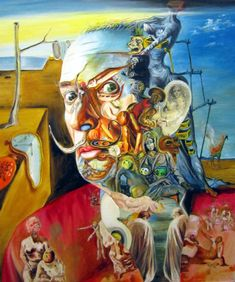 Artwork by Salvador Dali Salvador Dali Paintings, Art Visionnaire, Art Du Monde, Photo D Art, Surrealism Painting, Pics Art, Art Moderne, Wassily Kandinsky, Surreal Art