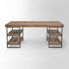 Hölzerner Schreibtisch Wooden desk desk Related posts: DIY desk for two using Ikea Alex drawer + a wooden countertop Mesa Home Office, Home Office Desks, Home Office Furniture, Furniture Plans, Wood Furniture, Furniture Design, Cheap Furniture, Furniture Stores, Antique Furniture