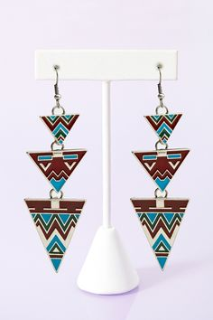 Phoenix Triangle Earrings