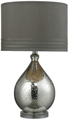 HGTV | 24 1-Light 3-Way Table Lamp Mercury Glass HGTV252