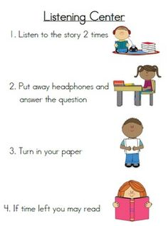 """FREE LESSON - """"Listening Center Directions and Response Sheets"""" - Go to The Best of Teacher Entrepreneurs for this and hundreds of free lessons.  1st - 2nd Grade   #FreeLesson  http://www.thebestofteacherentrepreneurs.net/2014/12/free-misc-lesson-listening-center.html"""