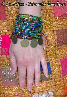 MESSANTIA bracciale 354 cm super lunga di perline filo lotto
