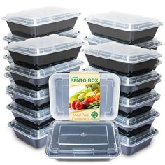 Amazon.com: Enther Meal Prep Containers [20 Pack] Single 1 Compartment with Lids, Food Storage Bento Box | BPA Free | Stackable | Reusable Lunch Boxes, Microwave/Dishwasher/Freezer Safe, Portion Control (28 oz): Kitchen & Dining Freezer Containers, Meal Prep Containers, Food Storage Containers, Emergency Food Storage, Emergency Supplies, Survival Food, Urban Survival, Easy Appetizer Recipes, Portion Control