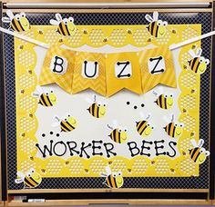 Display the wonderful creations of your many 'worker bees' with the Honeycomb Jumbo Stencil-Cut Border and Bee Cut-Outs! Create a welcoming bee themed room with these modern and vibrant touches of black and yellow. Add some 'buzz' in your room with the new yellow pennant banner and the sleek Black Moroccan, Yellow Chevron and Black Wavy borders.