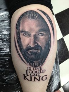 Thorin Oakenshield tattoo, from The Hobbit.
