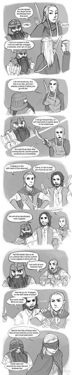 """At Lothlorien by Chibineechan. This is almost verbatim from the book!!!"" I can remember giggling so hard at this part."
