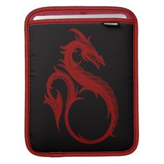 Red Dragon Apalala iPad Sleeve