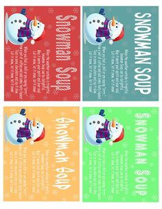 Melted Snowman Soup Printable Poems plus 5 delicious recipes snowman soup recipes great for gift giving! #christmas #printables #giftables