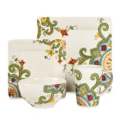 Tabletops Unlimited® Abbey 4-Piece Place Setting - BedBathandBeyond.com. I want!