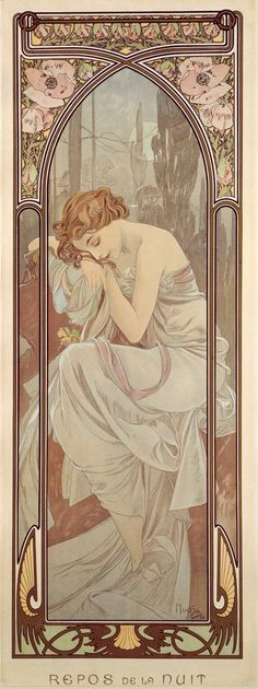 Mucha: The Times of the Day: Night's Rest