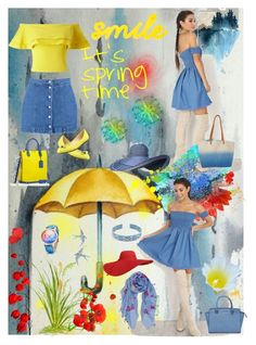spring time by georgine-d on Polyvore featuring polyvore fashion style Miss Selfridge Boohoo Bar III Mark/Giusti Billabong MICHAEL Michael Kors Forever 21 Topshop Humble Chic Parvez Taj clothing