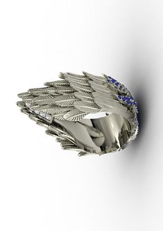 Jasmine Alexander Ascent Victorious Ring in White Gold and Diamonds.