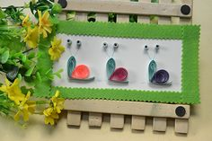 Handmade Home Decoration Tutorial Quilling Paper Craft, Paper Crafts, Handmade Home, Snail, Home Decor, Decoration Home, Tissue Paper Crafts, Room Decor, Paper Craft Work