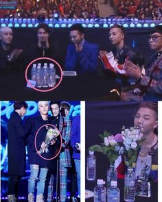 BigBang putting the water bottles to good use =)))