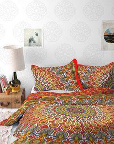 Psychedelic Mandala Tapestry / Mandala Wall Hanging / Mandala Bedspread
