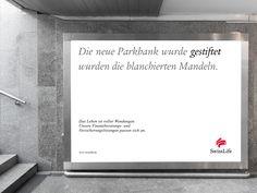 Die neue Parkbank wurde GESTIFTET wurden die blanchierten Mandeln. #wendesatz
