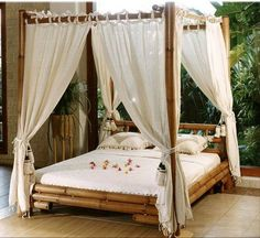 Canopy Curtains canopy bed!! like it. love it. gotta have it! | dream home