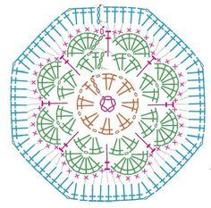 african flower granny square crochet pattern seven - חיפוש ב-Google
