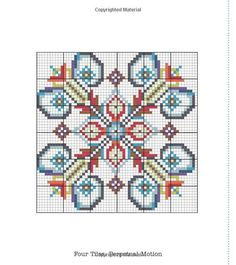 cross-stitch pattern ... no color chart available, just use the pattern chart as your color guide..: