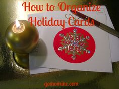 If I don't get a jump start on my holiday cards early ~ as in done by December 1st ~ they simply won't happen.  How to Organize Holiday Cards | gomominc.com