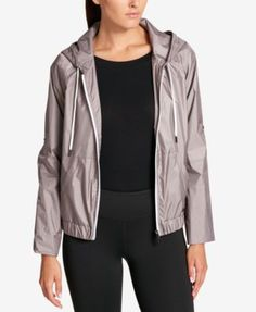 Dkny Sport Hooded Jacket, Created for Macy's - Black XS