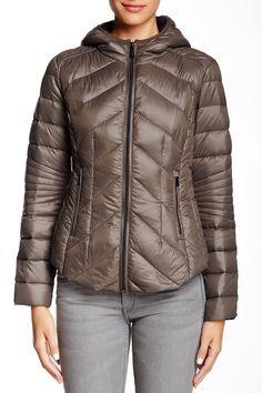 Missy Short Hooded Packable Jacket by BCBGeneration on @nordstrom_rack