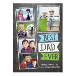 Father's Day Best Dad Ever Flags Card