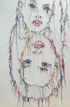 Obsession broderie de Guacolda. Contemporary Embroidery, Illustration Art, Illustrations, Thread Art, Weaving Art, Darning, Embroidery Art, Fabric Art, Art Forms