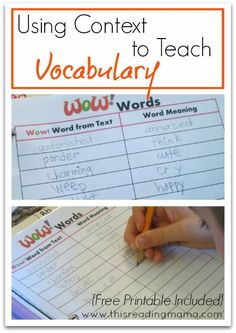 Using Context Clues to Teach Vocabulary {free printable included} | This Reading Mama