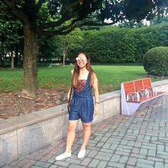 Mid Summer in People's Square Park #denim #zara #ootd #summer