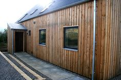 Cromartie Timber specialise in the production of fine sawn cladding, beams and pillars in locally sourced Scottish Larch and Douglas Fir. Wooden Cladding Exterior, Wooden Wall Cladding, Larch Cladding, House Cladding, Wooden Facade, Shiplap Siding, Clapboard Siding, Wood Siding, Wood Paneling