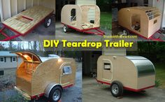 Diy camper trailer - 5 PHOTO! Camping Trailer Diy, Diy Camper Trailer, Diy Teardrop Trailer, Teardrop Campers, Wooden Toys, Wood Projects, Projects, Pictures, Wood Toys