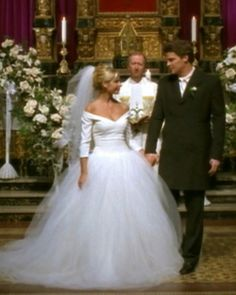 Buffy (Sarah Michelle Gellar)'s season-three wedding to Angel (David Boreanaz) was a dream—as was the grand Vera Wang ball gown she wore.