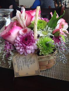 Mini canasta para desayunos de la botica de las flores