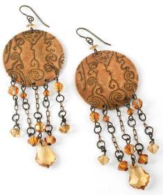 "DecoEtch Artisan Copper Earrings tutorial (""Crystal Copper"" earrings by Jess Italia Lincoln)"