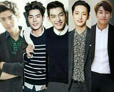 Bang Sung Joon, Hong Jong Hyun, Kim Woo Bin, Lee Soo Hyuk and Kim Young Kwang #Friends #Models