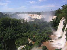 Iguazu Fall on the border of Argentina and Brazil