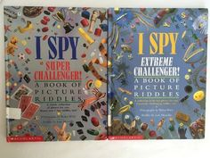 2 Childrens I Spy Books Super and Extreme Challenger Picture Riddles Hardcovers