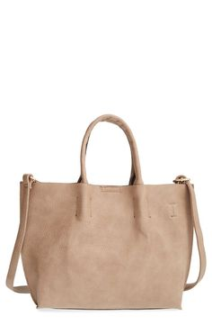 Faux Leather Tote & Wristlet